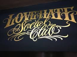 Hand painted and gilded by Nick Garrett  for love hate social club - Google Search