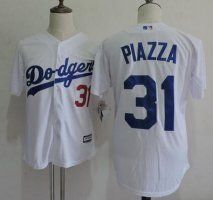 Los Angeles Dodgers #31 Mike Piazza Retired White Collection Pla