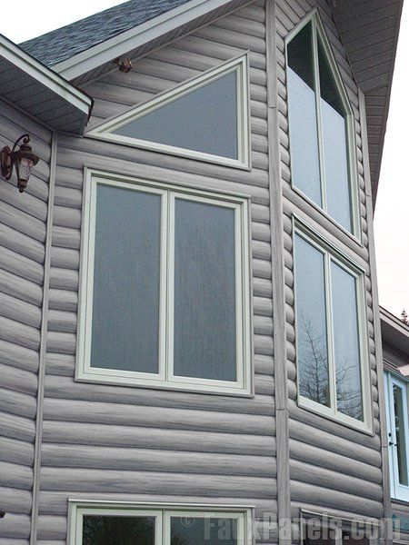 Log veneer siding is an easy way to add a tasteful touch to your home