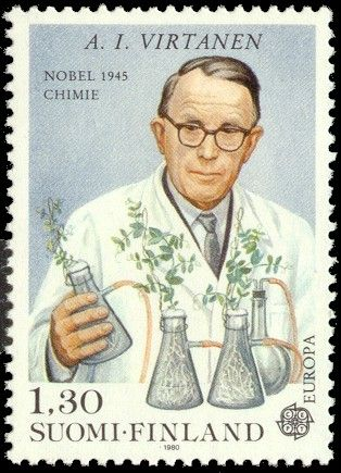 "Artturi Ilmari Virtanen (15 January 1895  -  11 November 1973, Helsinki, Finland)  | Winner of the Nobel Prize in Chemistry in 1945 ""for his research and inventions in agricultural and nutrition chemistry, especially for his fodder preservation method"" 