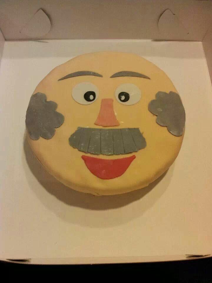 Abraham taart voor papa zelf gemaakt