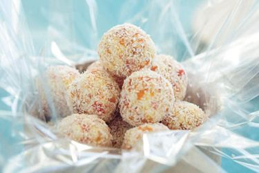 Dried apricot sweets recipe, NZ Woman's Weekly – visit Food Hub for New Zealand recipes using local ingredients – foodhub.co.nz