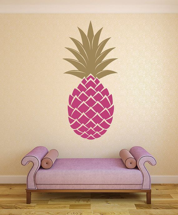 Retro Pineapple Wall Decal Mid Century Modern by WallStarGraphics