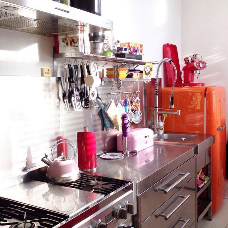Rode Keuken Combineren : Meer dan 1000 idee?n over Rvs Koelkast op Pinterest – Rvs, Koelkasten