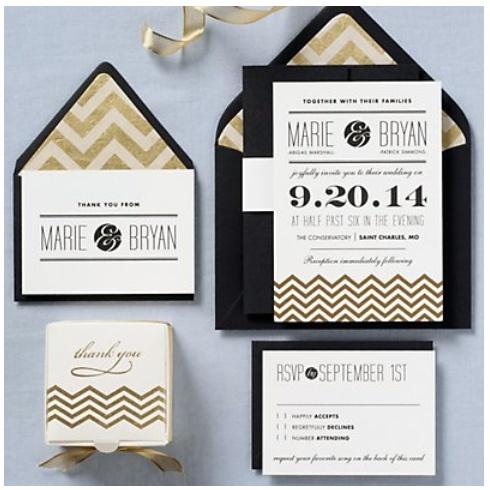 Classy yet modern invite package