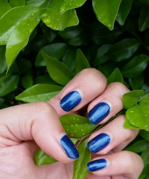 #ElectricBlue #Gelnails #Manicure