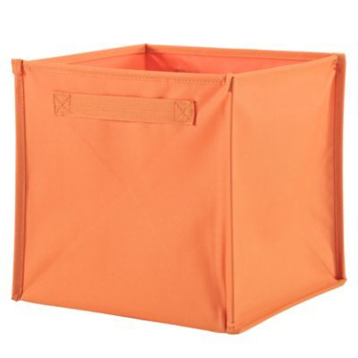 Expedit Storage Options - $9 I Think I Canvas Cube Bin (Orange)