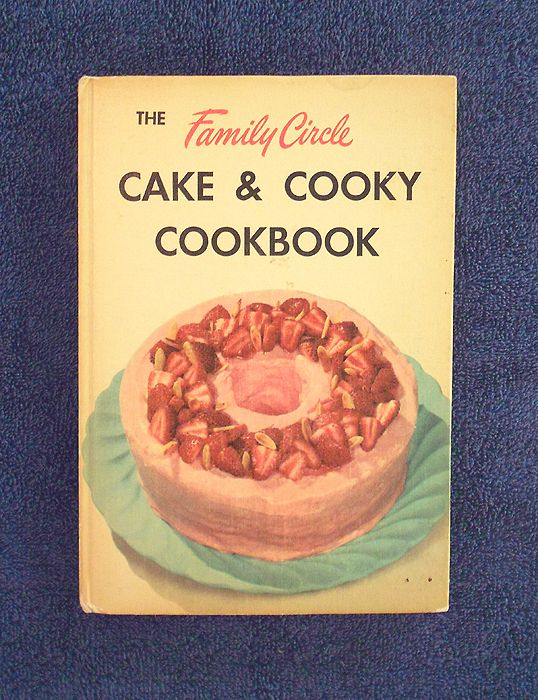 1953 First Edition Vintage Cookbook 'Family Circle Cake and Cooky Cookbook' . . . Hard to find vintage baking cookie cookbook in fabulous condition. It appears this book was never used, a wonderful clean and tight copy! . $24