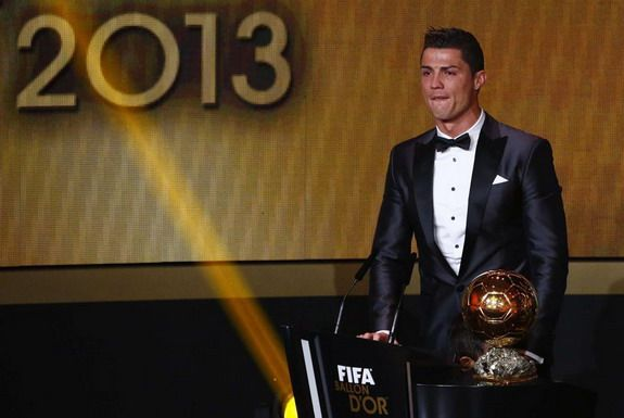Cristiano Ronaldo bursts into tears after winning Ballon d'Or