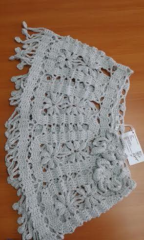 Capita tejida a crochet en hilo