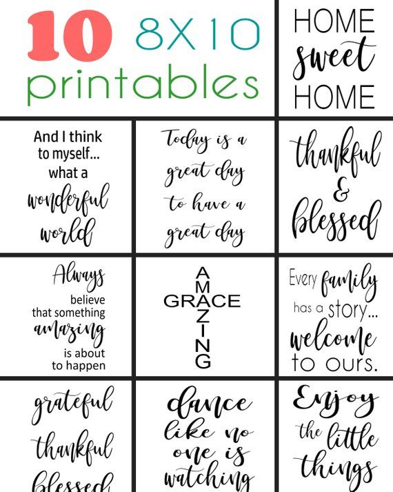 photo relating to Printable Sayings known as 10 printable sayings toward produce your private 8X10 wooden indications