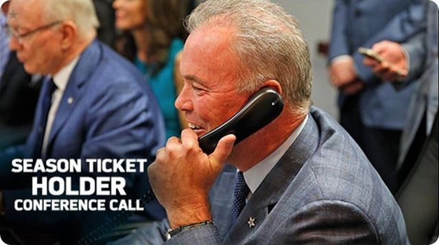 SMARTIN' MARTIN OVER MANZIEL: Dallas Cowboys season ticket holders conference call with Stephen Jones | Team commitment to Tony Romo