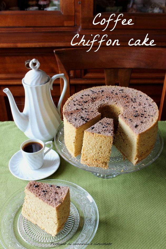 Profumo di cannella e cioccolato: Chiffon cake al caffè