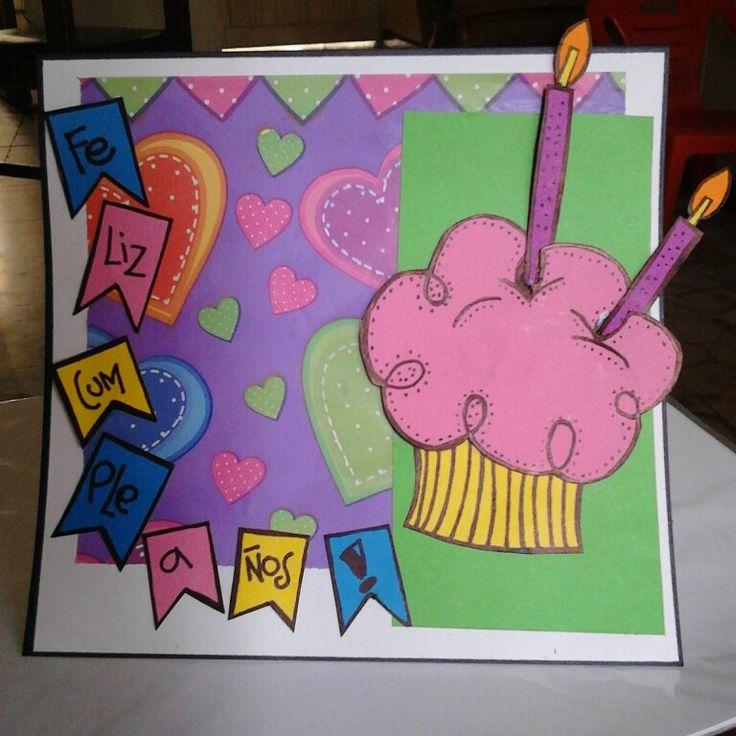 Tarjeta Feliz Cumpleaños Cupcake