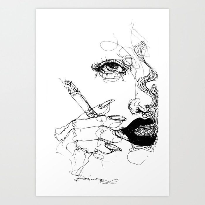 Smoke Art Print By Doryana17 Society6 Smoke Art Smoke Drawing