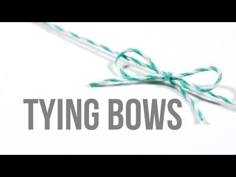 Tying Bows (How to tie bows perfectly) – kwernerdesign blog