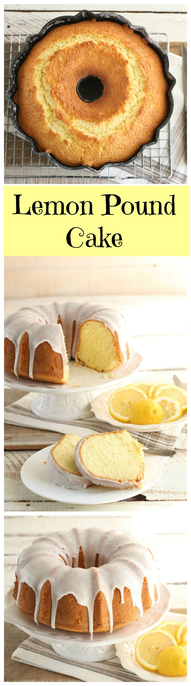 One of the easiest and delicious cakes to make. This old-fashioned pound cake, drizzled with lemon icing- YUM!