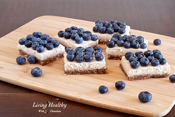 Blueberry Coconut Cream Pie Squares (Paleo, Dairy, Gluten, Refined Sugar Free) #LivingHealthyWithChocolate