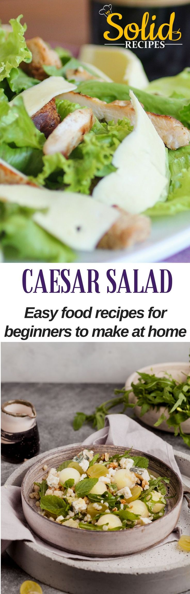 CAESAR SALAD – easy food recipes for beginners to make at home Not always the photos matched the recipe. Caesar salad dressing | Caesar salad recipe | Caesar salad dressing recipe | Caesar salad dressing homemade | Caesar salad dressing no anchovies |