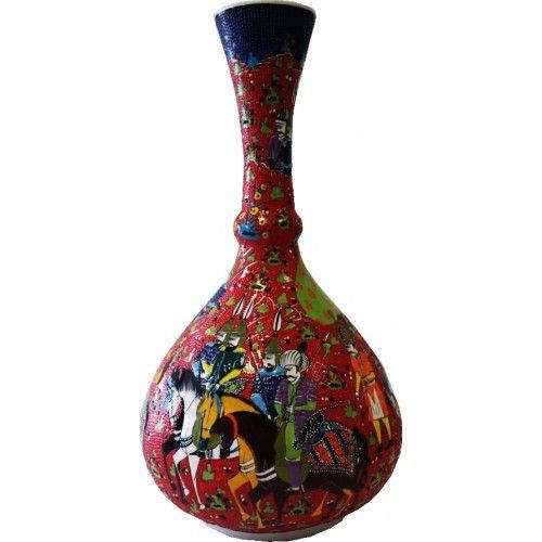 50 cm gözyaşı çini vazo - Sanatkardan