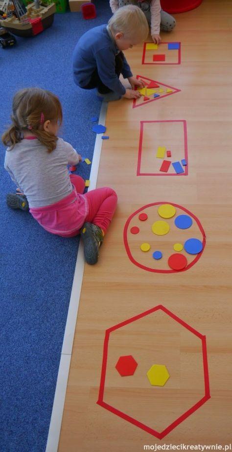 poznajemy figury geometryczne, przedszkole, wczesna edukacja, edukacja domowa