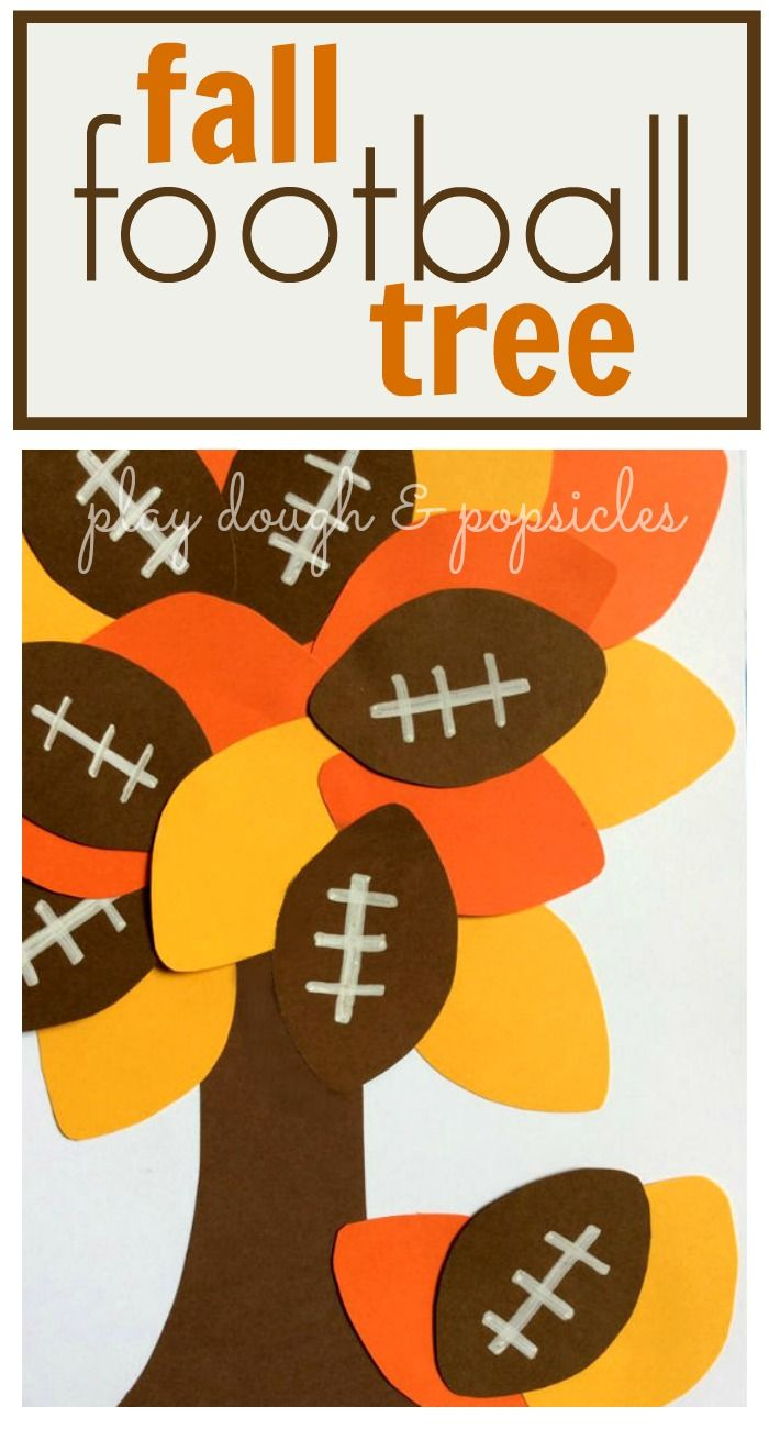 Fall Football Tree Craft is a great activity for kids for fall and football season.