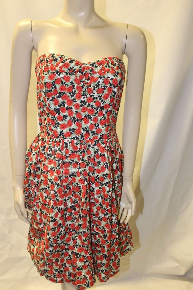 Strapless Dress size 14 Summer Frock