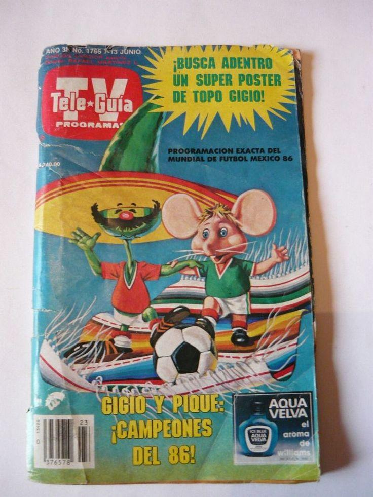 FIFA 1986 World Cup Mexico 1 official program Soccer TV TELE-GUIA  | eBay