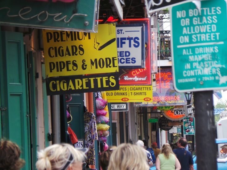 Lots of street signs in New Orleans