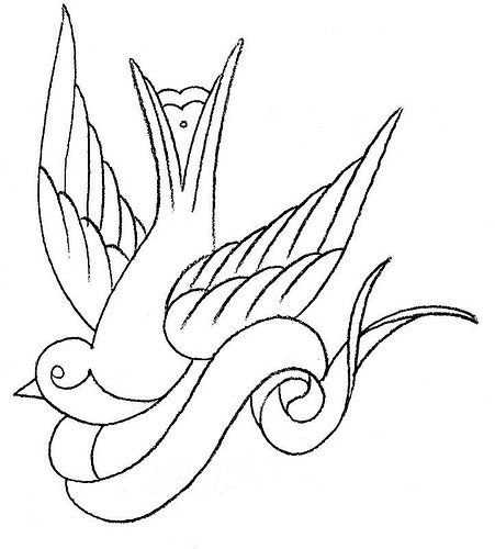 tattoos drawings for girls | Back Sparrow Tattoo Design For Girls Dawnaposs - Free Download Tattoo ...