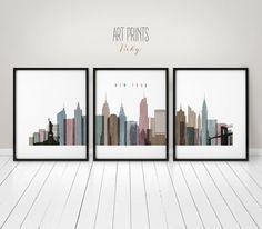 Impresiones de Nueva York arte de la gran pared por ArtPrintsVicky