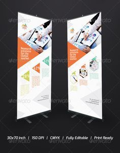 Graphic roll up banner
