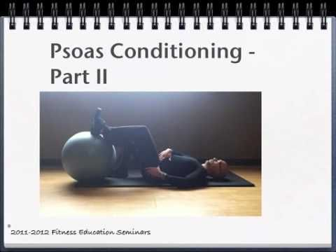Best Exercises for Psoas, Conditioning Psoas, Tight Psoas, Weak Psoas - YouTube Psoas-my absolute favorite muscle to focus on, it does so much and is so easily overwhelmed by the global muscles. Need to do the release, really nice to disassociation hip from pelvis to the Psoas starts working.