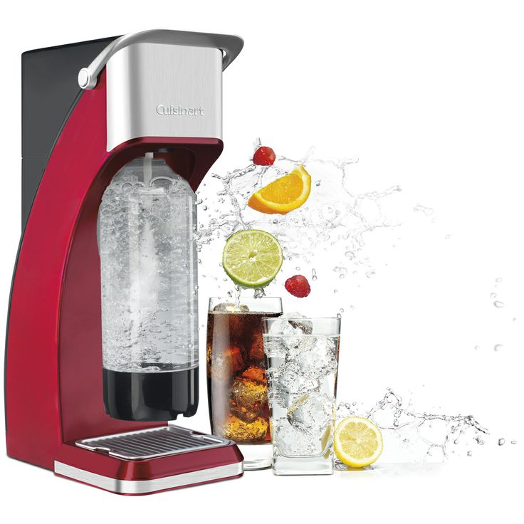 Make your own sparkling water with the Cuisinart Sparkling Beverage Maker.
