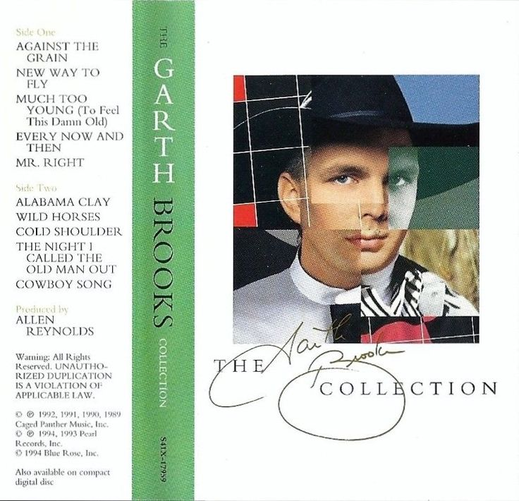 """GARTH BROOKS """"THE COLLECTION"""" Greatest Hits On Vintage Country Audio Cassette  #CountryPopCountryRockCowboyCountryLineDanceProgressiveCountry"""