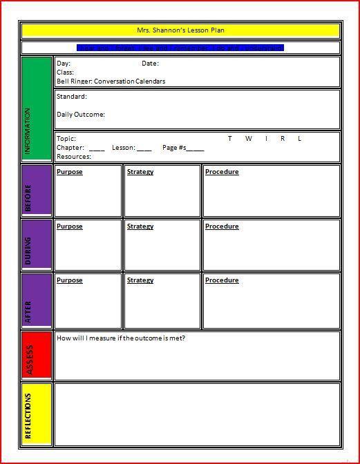 25 best ideas about lesson plan format on pinterest