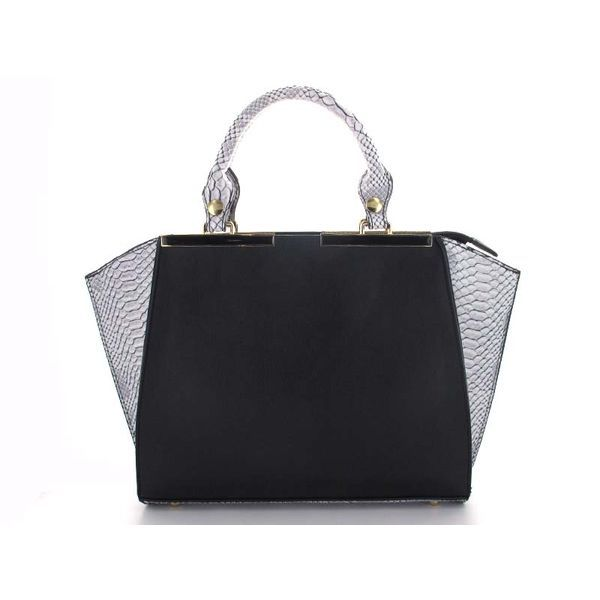 Snakeskin Handbag in Black & White