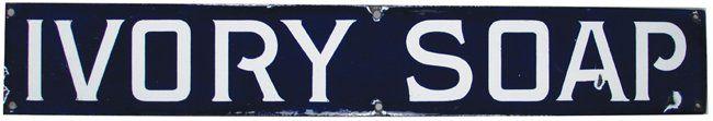 Ivory Soap Porcelain Sign : Lot 175