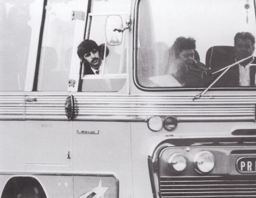 Ringo on the Magical Mystery Tour bus, c. 23rd September 1967.