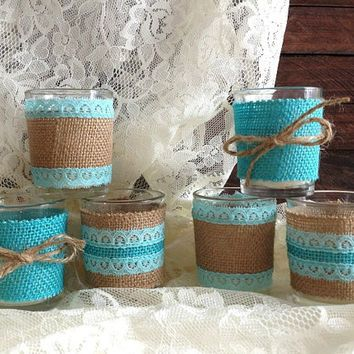 aqua black and burlap wedding shower - Google Search
