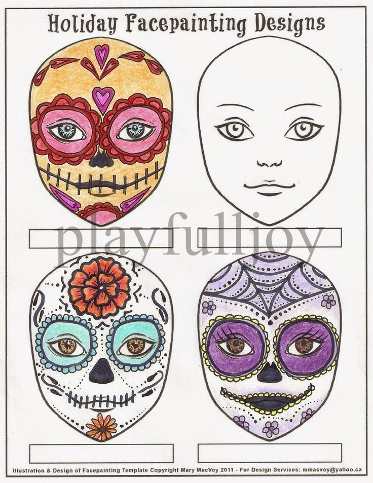 day of the dead skull mask template - 25 best images about sugar skull day of the dead