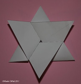 Star fold card tutorial (written in Norwegian and English by Wenche, from a German version by Patty)