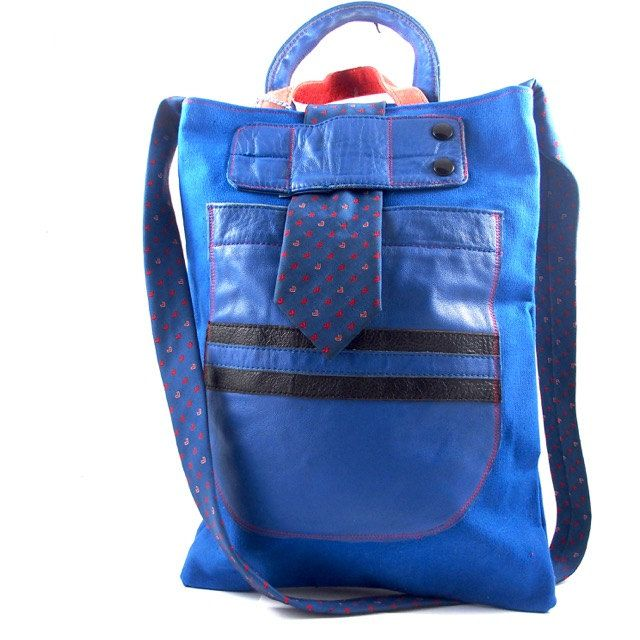 Shoulderbag/handbag Puck, urban, crossbody, vintage, recycling door Liekebieke…