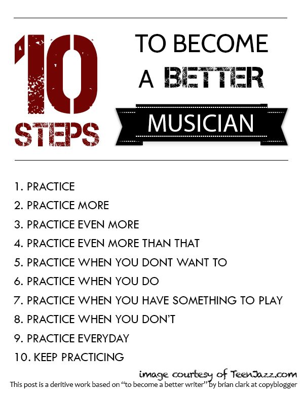 10 Steps to Become a Better Musician free Poster