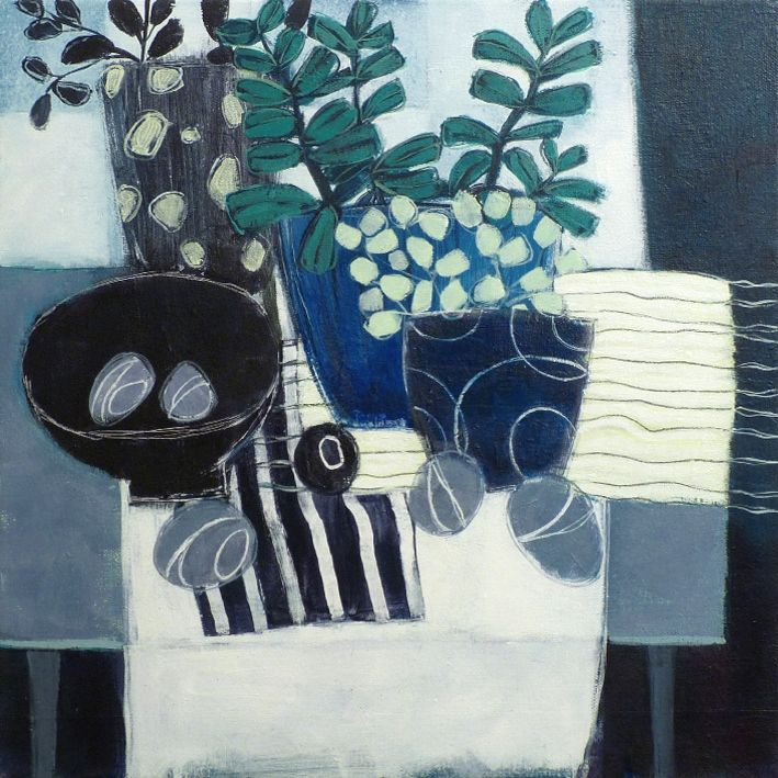 Donald Maclean - Crassula in blues and greys (series)
