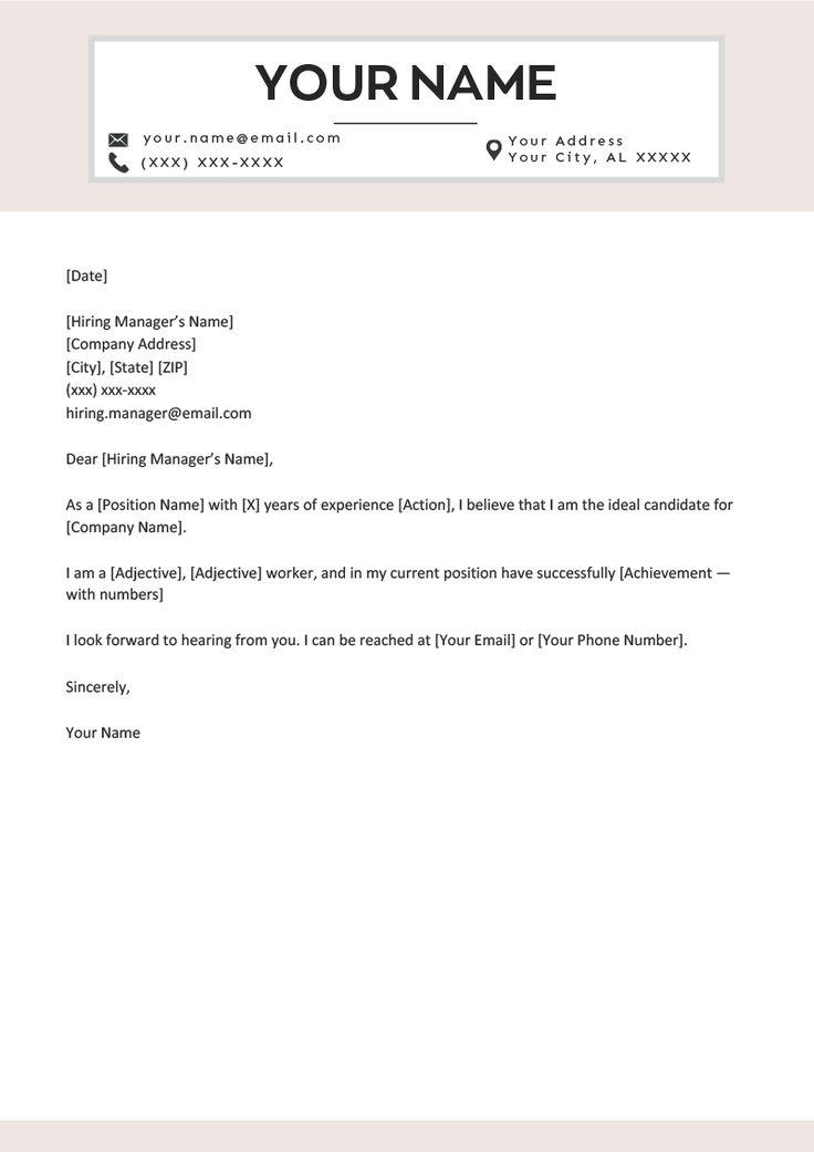 A fillintheblanks short cover letter template job