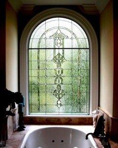 Tucker Arch Decorative Glass Window