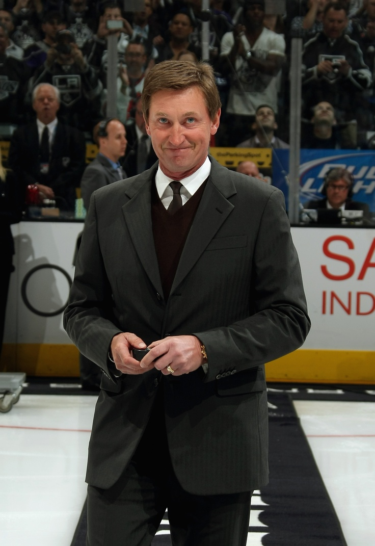Gretzksy holds the puck before the ceremonial puck drop at Game 3 of the Stanley Cup Finals: Hockey Games, Hockey Stuff, Angel King, The Angel, Cups Finals, La King, Hockey Girls, L A, Angeles Legacy