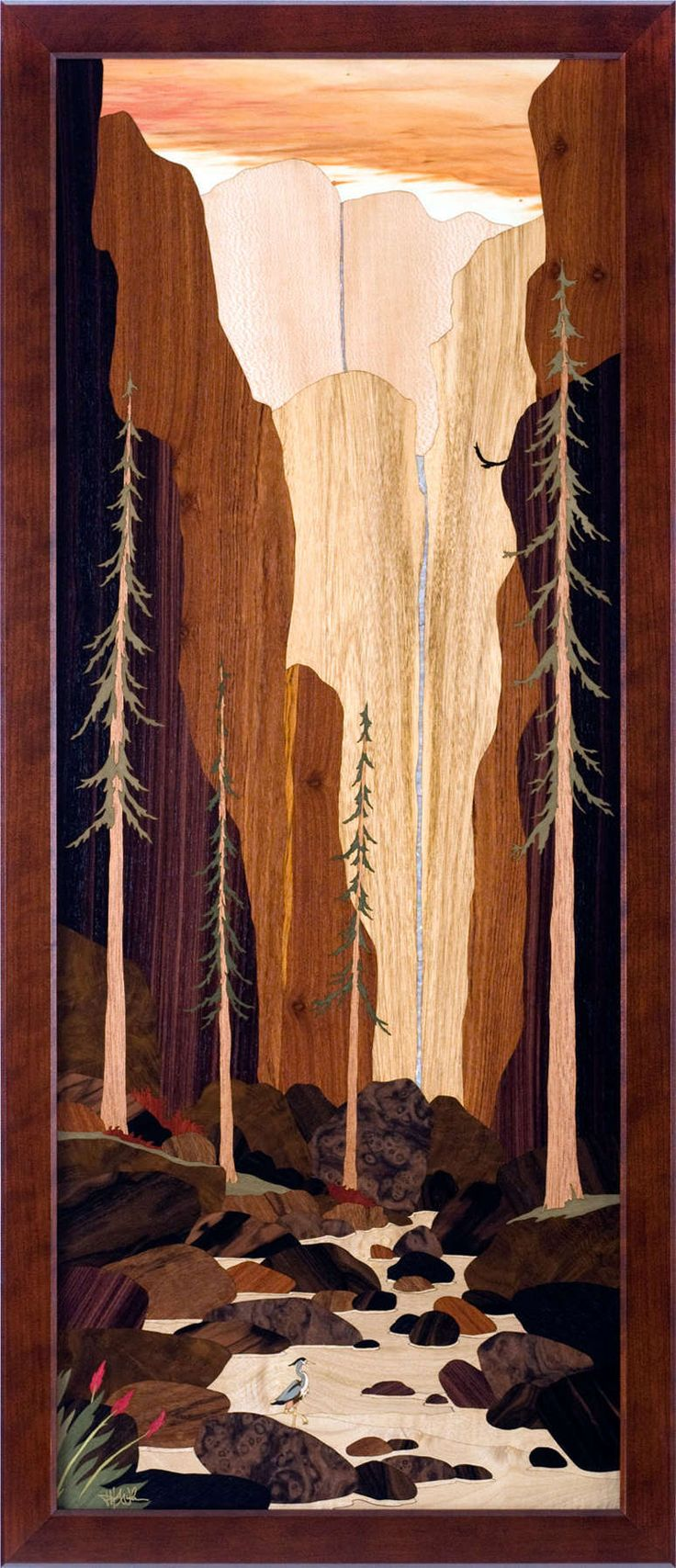 Marquetry Artwork By Ed Coffman Hudson River Inlay