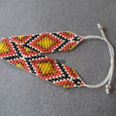Bracelet en perles de rocaille style indien navajo 2